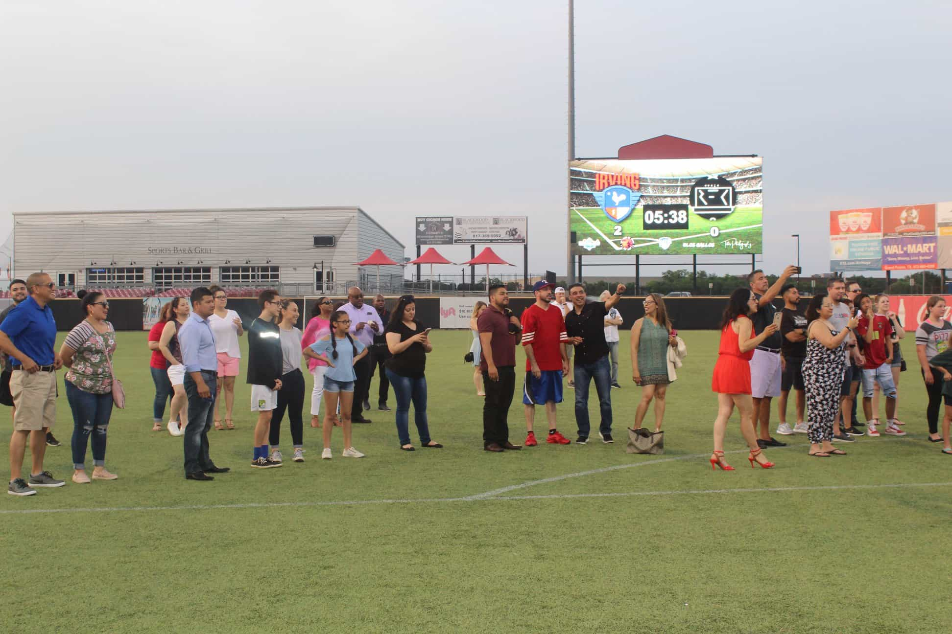 Irving Hispanic Chamber Night at Irving FC Soccer Game- group